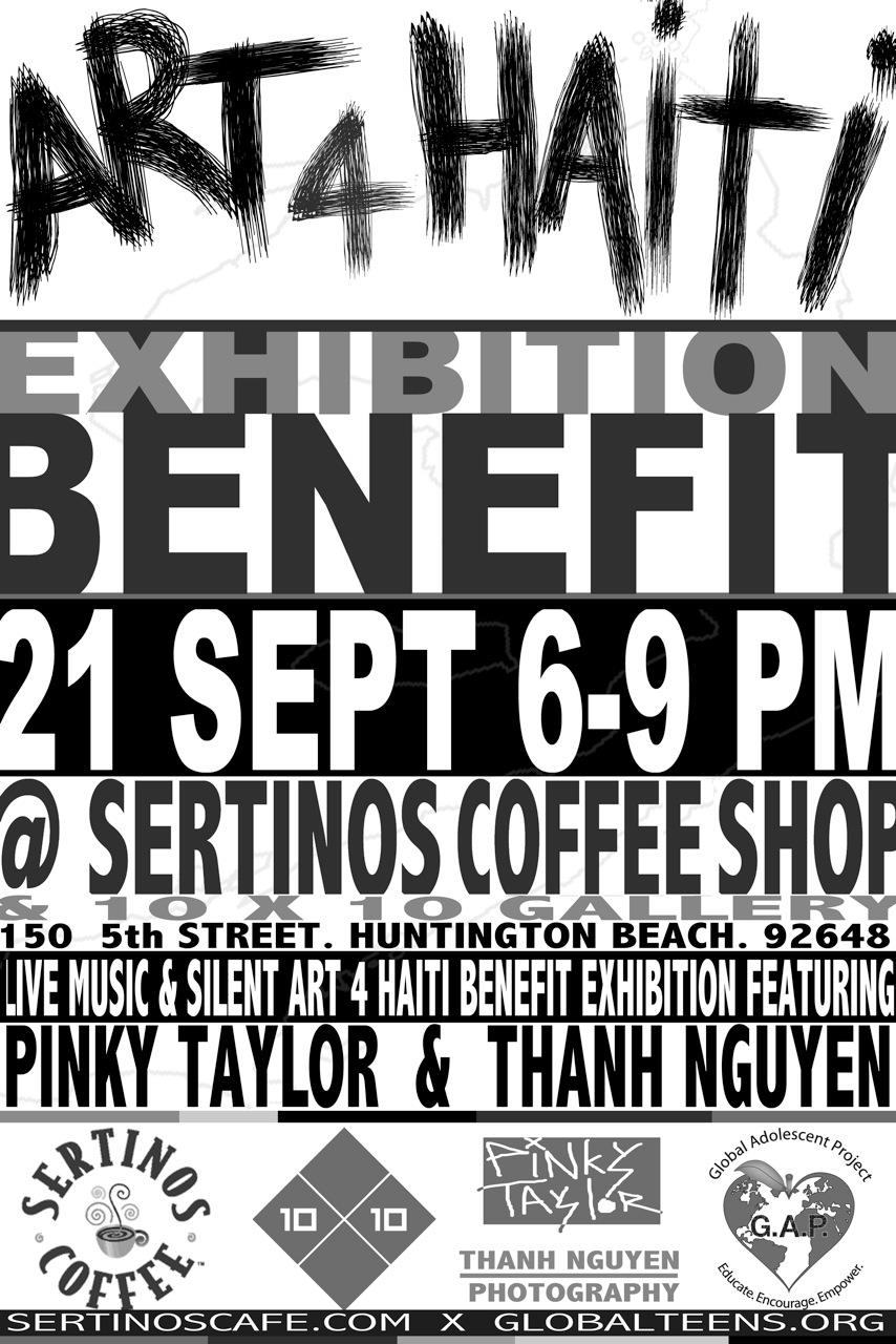 Art4Haiti Benefit Auction, Sertino's in Huntington Beach!